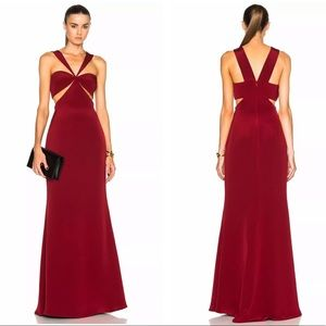 Cushnie et ochs- Eva cutout silk gown dress